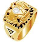 10k 14k Yellow or White Gold Masonic Scottish Rite Freemason Ring