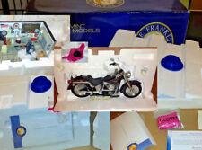Super Rare - FRANKLIN MINT Harley Davidson Fat Boy Riders Garage Diorama Box COA