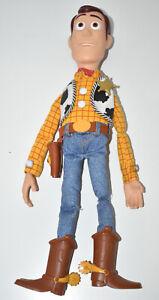 "Disney Pixar Toy Story Talking Woody Pull String Doll 15"" Thinkway Toys WORKING"