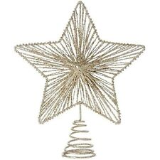 Large Glitter Champagne Star Christmas Tree Top Topper New  By House Of Fraser