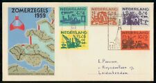 NETHERLANDS FDC 1959 COVER ZOMERZEGELS SHIPS COMBO