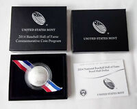 2014 S National Baseball Hall of Fame Proof box with COA Mint in Box *NO COIN**