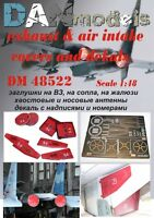 Dan Models 48522 - 1/48 SU-27 Exhnaust & Air Intakes Covers and Decals Scale