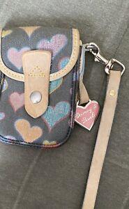 Dooney and Bourke Hearts Wristlet