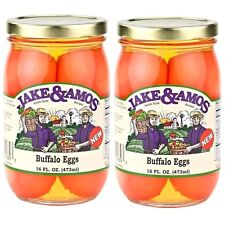Jake & Amos - Pickled Buffalo Eggs, 2 / 16 Oz. Jars ~ FREE SHIPPING