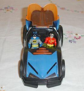 Imaginext Batmobile with Batman & Robin Figures 🦇 Vehicle Sounds & Lights 🦇