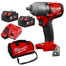 "Milwaukee 18V Fuel 1/2"" Mid-Torque Impact Wrench Combo Kit 5.0Ah M18FMTIWF12-0"