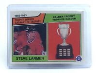 1983-1984 Steve Larmer #206 Chicago Black Hawks OPC O-Pee-Chee Hockey Card H702