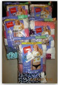 Hanes Cotton BIKINIS soft breathable no ride up tagless preshrunk cotton panties