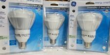 Lot of 3 GE Energy Smart Flood Light Bulb Dimmable 15 Watt 65 Watt 720 Lumens