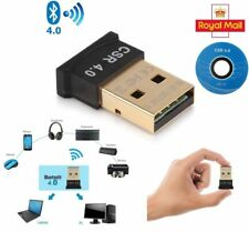 Wireless USB Bluetooth V4.0 CSR Dongle Adapter for Windows 7 8 10 PC Laptop UK