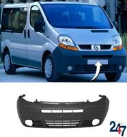 NEW RENAULT TRAFIC 2001 - 2006 BLACK FRONT BUMPER WITH FOG LIGHT HOLES