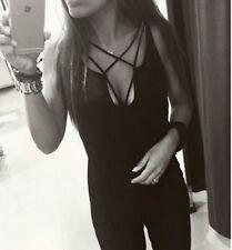 Vestido de fiesta ZARA Alto Dama Negro Mono Con correas de tamaño pequeño nuevo noche