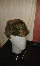 GERMAN ARMY FLECKTARN CAMO WINTER FLEECE HAT SIZE 57 VGC