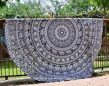 Mandala Round Beach Throw Indian Tapestry Hippie Yoga Mat Towel Roundie Gypsy