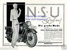 NSU moto insegne 1929 grafica Sternberg MOTO Aauto Pubblicità truccabimbi