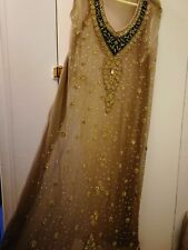 Pakistani and Indian Shadi/ Walima Beautiful brown Wedding Gown Lengha