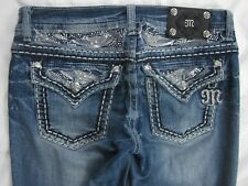 Buckle MISS ME Boot Cut Embellished Flap Pocket Stretch Jeans 29 x 33