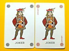 2 Winking Royal Page Hiding Ace in Sleeve JOKERS Single Swap Playing Cards
