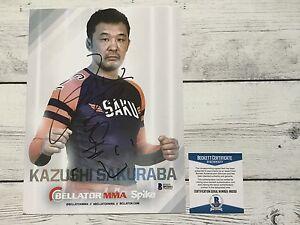 Kazushi Sakuraba Signed Bellator Promo Photo BAS Beckett COA Autographed a