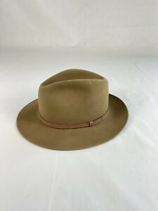Stetson 7 1/4 Fedora Style Brown Hat