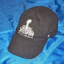 Superbowl Super Bowl XLVIII 2014 47 Brand One Size Ball Cap Seahawks vs Broncos