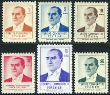Turkey 1525-1530, MI 1814-1819, MNH. Kemal Ataturk, 1961-1962