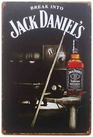A4 Tin Metal Sign JACK DANIELS Eight Ball 21x30cm Billards Licensed by Aquarius