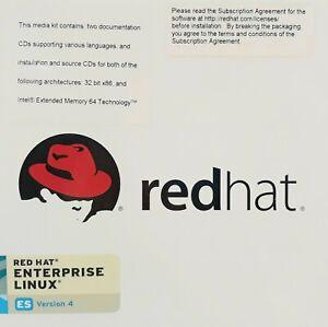 RedHat Enterprise Linux ES Version 4 Operating System (2 CDs)