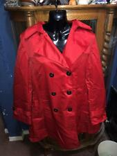 EBZA RED HOODED WOMENS TRENCH COAT SIZE: LARGE  NEW WITH TAGS