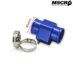 40MM Water Temp Gauge Radiator Water Temperature Joint Pipe Sensor Hose Adapter