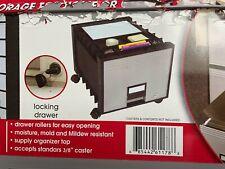 File Cabinet Storex Plastic 1 Drawer Legal Grayblack With Keys