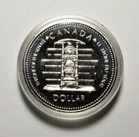 Canada 1977 Throne Of Senate Silver $1.00 One Dollar Coin Specimen