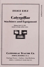 1931 CaTerpiLlaR Tractors Price List - New reprint