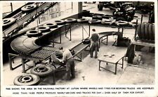Luton. Vauxhall Car Factory. Wheels & Tyres Assembly for Bedford Trucks.