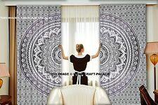 Indian Ombre Mandala Print Bohemian Decorative Door Window Blinds Curtain Drapes