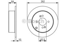 1x BOSCH Disco de Freno Trasero Pleno 262mm Para HYUNDAI ACCENT 0 986 479 C08