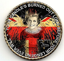 Princess Diana Gold Coin Signed Prince William Harry Candle in the Wind Love UK