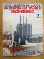 Wonders of World Engineering Magazine 51 Feb 15 1938 Canal Building Coin Machine