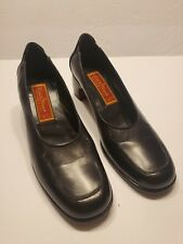 Cole Haan City Pump Womens 6 AA Black Leather Slip Loafer Heel Shoe F9338 Italy