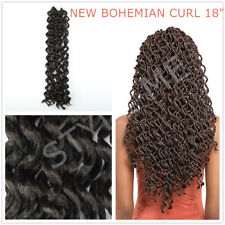 Crochet Braids NEW BOHEMIAN CURLY Hair Extension 1/3/5 Bundle