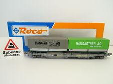"""ROCO H0 46369 Einheitstaschenwagen SBB """"Hangartner AG"""" OVP M1045"""