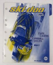 2002 Ski-Doo Mini Z Factory Parts Catalog Book Manual OEM Bombardier 484 400 283