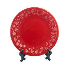"""Fiesta Scarlet Red Snowflake Lunch Plate 9"""" Fiestaware Macys"""