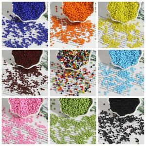 2mm Opaque glass seed beads 50g pack, size 11/0 approx 1000 beads, choose colour