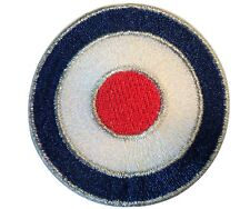 RAF Target Roundel MOD Scooterist Iron/ Sew On Embroidered Cloth MODS Patch NEW