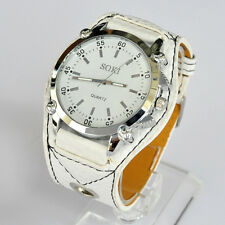 SOKI White Analog Quartz Mens Womens Unisex Wrist Watch 03W