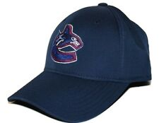 Vancouver Canucks Reebok/CCM Tactel Stretch Fit Navy Blue Hockey Cap Hat