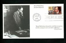 US FDC #3135 Mystic Cachet Wallenberg Swedish Diplomat 1997 Washington DC