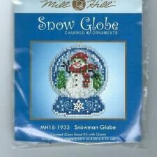 Christmas Snowman Snow Globe Ornament Cross Stitch Kit Mill Hill